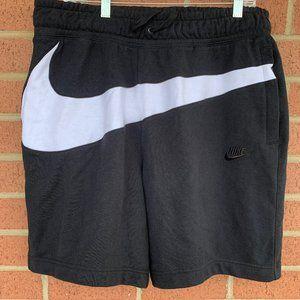 "Nike NSW ""Swoosh"" Black/White Fleece Shorts"